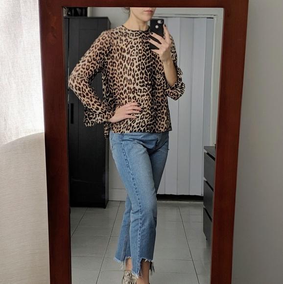 273c14ad Ganni Tops | Printed Georgette Leopard Blouse | Poshmark